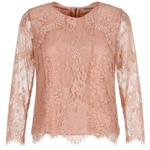 Alice + Olivia Hildie Lace Combo Blouse NWT
